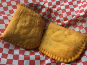 Picture of 2 or $9 Spicy Beef Jamaican Turnovers