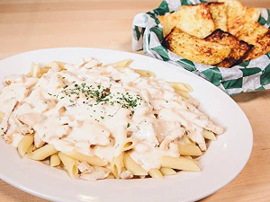 Picture of Penne with Garlic Cheese Bread