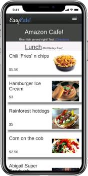 Mobile ordering for food truck customers